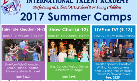 Summer camps – 2017 announced!