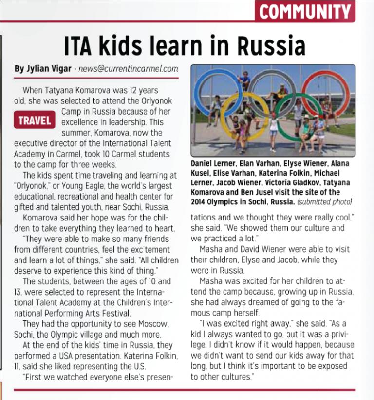 ITA kids learn in Russia