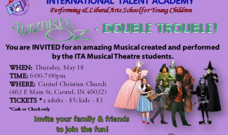 Spring Musical – Wizard of Oz – DOUBLE TROUBLE: May 18th