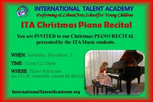 ITA Christmas Piano Recital