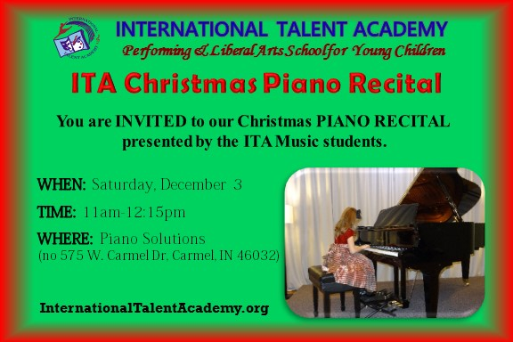 ITA Christmas Piano Recital