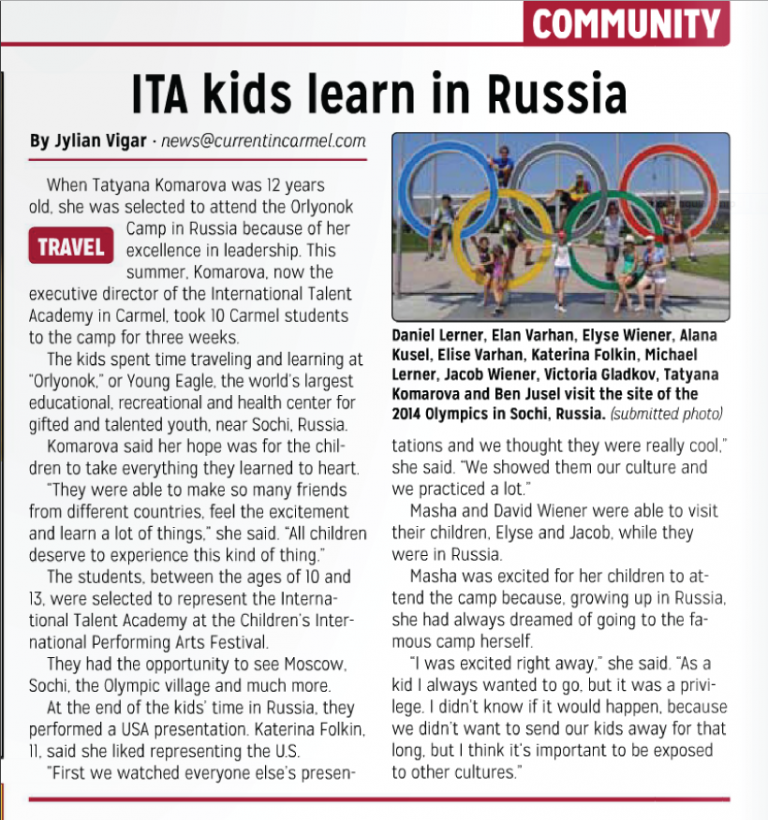 ITA kids learn in Russia
