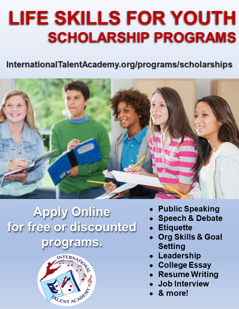 ITA Life Skills for Youth Scholarships program flyer_2021